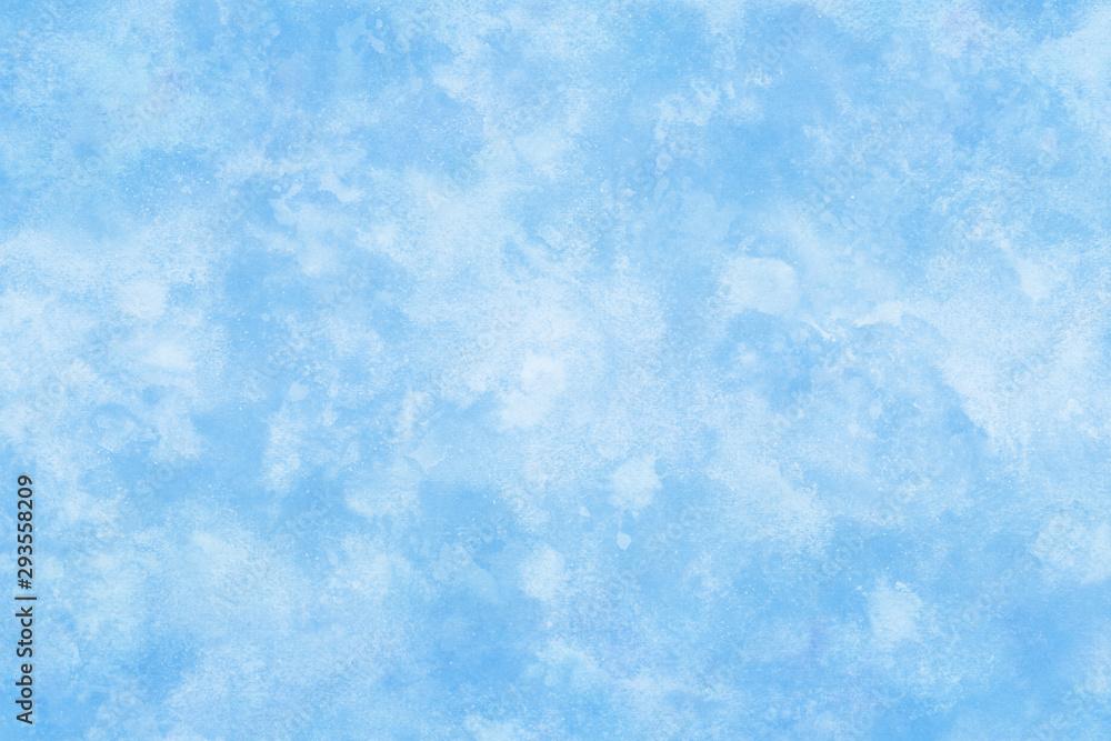 Fototapeta 氷 雪 冬 テクスチャ 水彩 背景