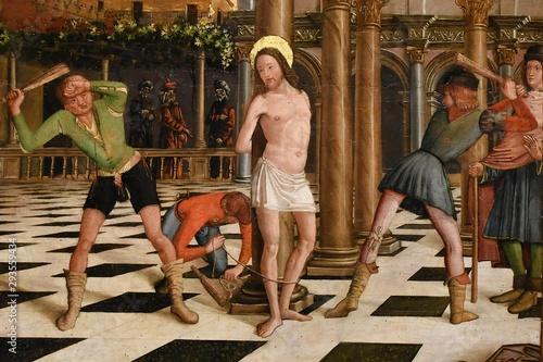 flagellazione di Cristo - Pietro Befulco detto Pietro Buono Wallpaper Mural