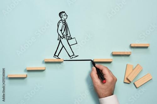 Obraz na plátně Career Planning and Challenge Concept