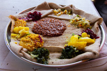 Injera Firfir, Typical Ethiopian Food