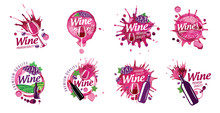 Vector Logo Of Red Wine Splash...