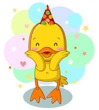 CUTE YELLOW DUCK DOLL FOR BIRTHDAY PARTY