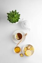 Black Tea With Lemon And Honey...