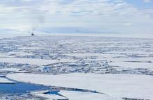 Ice Breaking In McMurdo Sound, Ross Sea, Antarctica