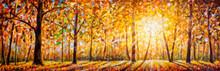 Gold Autumn Panorama Impressio...