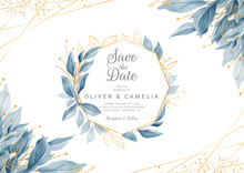 Modern Navy Blue Wedding Invit...