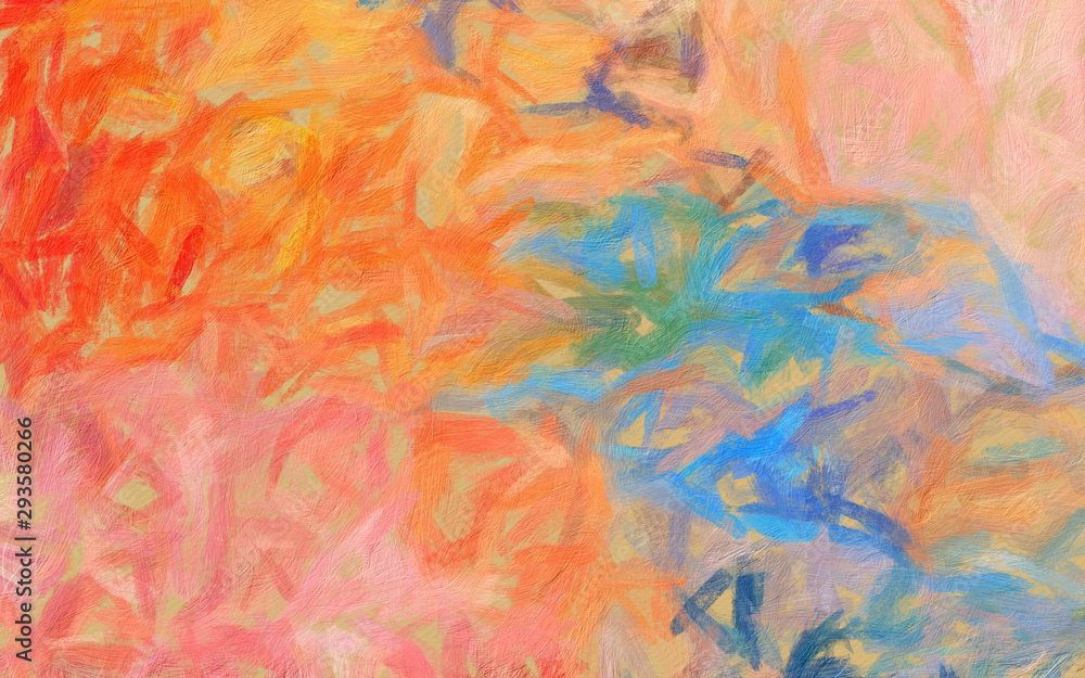 Background pattern for brochure cover, banner, postcard, flyer, poster or textile and fabric print. Template for creative wallpaper or graphic design artwork. Abstract digital painting art.