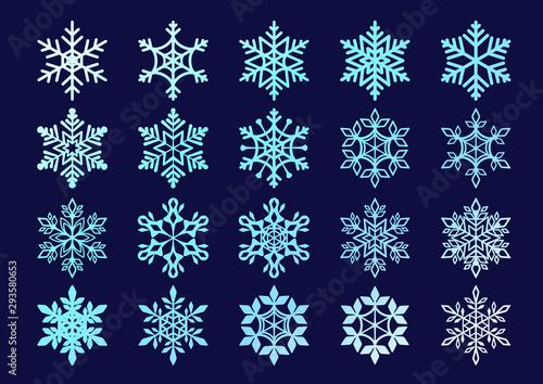 雪の結晶セット Wallpaper Mural