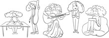 A Set Of Sketches - A Girl Fro...