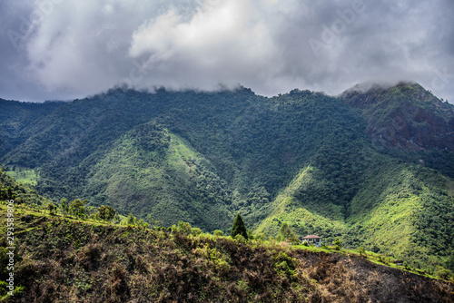 Fotografia Diverse central landscape with mountains of valleys and canyons in South America