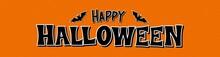 Happy Halloween Text Banner. B...