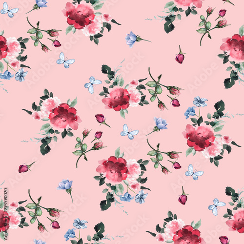 Fotomural Flowers pattern