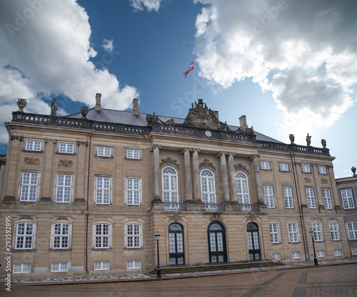 Photo  Royal Amalienborg Palace in Copenhagen