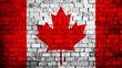 canvas print picture - Flag of Canada