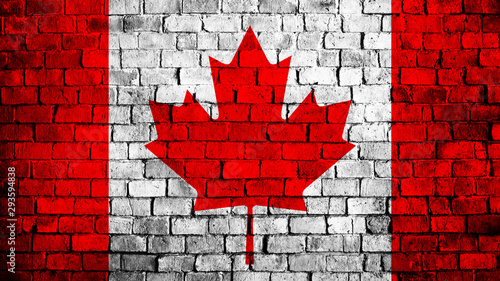 Wall Murals Amsterdam Flag of Canada