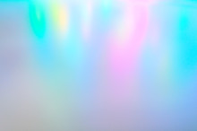 Blurred Multicolored Background From Light. Iridescent Holographic Abstract Soft Pastel Colors Backdrop.