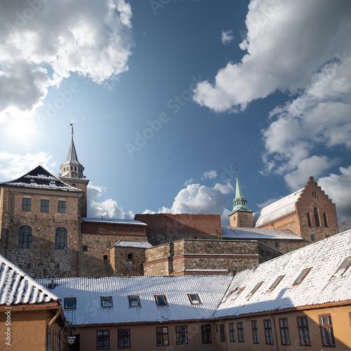Foto fortress of Akershus - a castle in Oslo