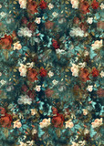 Flowers pattern.Silk scarf design, fashion textile. Background for the design and decoration of textiles. art abstract design, Seamless flower pattern - 293598250