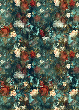 Flowers Pattern.Silk Scarf Design, Fashion Textile. Background For The Design And Decoration Of Textiles. Art Abstract Design, Seamless Flower Pattern