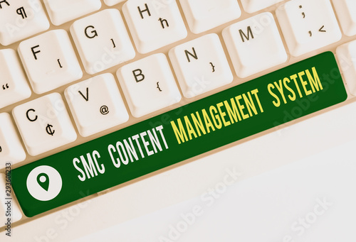Photo  Text sign showing Smc Content Management System