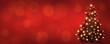 canvas print picture - weihnachtsbaum auf rotem hintergrund