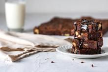 Chocolate Brownie Stack