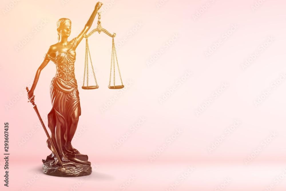 Fototapety, obrazy: Justice concept advocate antique arbitration background balance blind