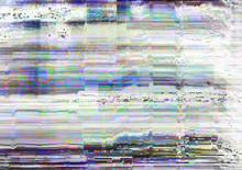 Screen Glitch. Signal Error. W...