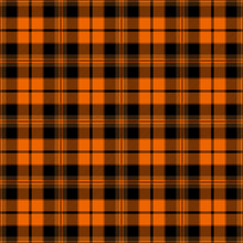 Halloween Festive Tartan Plaid Patten. Scottish Textile Design.