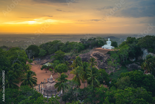 Mihintale in Anuradhapura, Sri Lanka at dusk Wallpaper Mural
