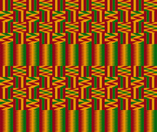 Kente Ceremonial Cloth Pattern...