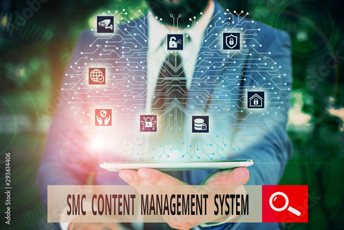 Conceptual hand writing showing Smc Content Management System Canvas Print