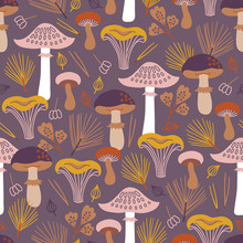 Autumn Seamless Pattern With M...