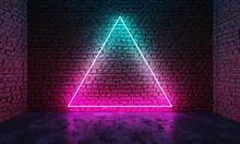Triangle Shaped Glowing Neon F...