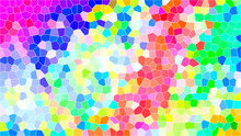 An Abstract Colorful Mosaic Ba...