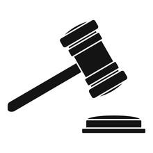 Judge Gavel Icon. Simple Illus...