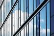 canvas print picture - Glasfassade mit Wolkenspiegelung