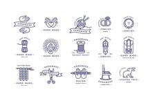 Handmade Colorful Line Logos S...