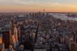 Vistas de Nueva York desde el Empire State al atardecer