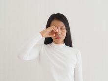 Eye Socket Pain In Asian Woman...