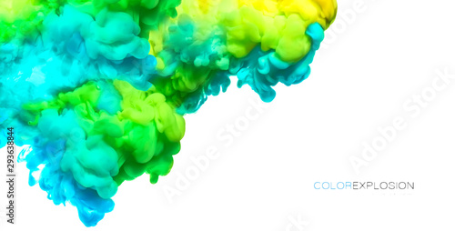 Acrylic Ink in Water. Paint Texture. Color explosion banner - 293638844