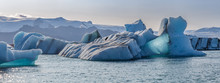 Floating Icebergs In Jokulsarl...