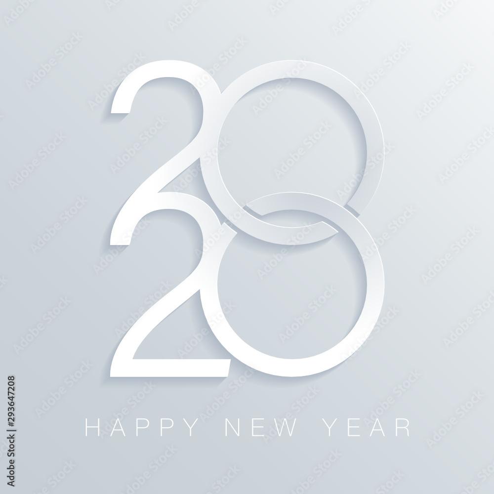 Fototapeta Carte de vœux année 2020