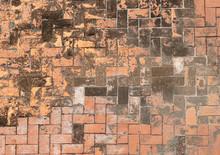 Old Brick Walkway Background T...
