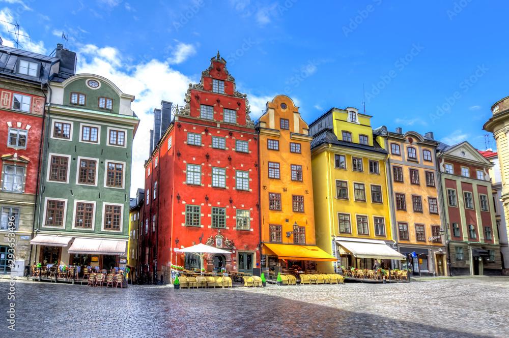 Fototapety, obrazy: Stortorget square in Stockholm old town, Sweden