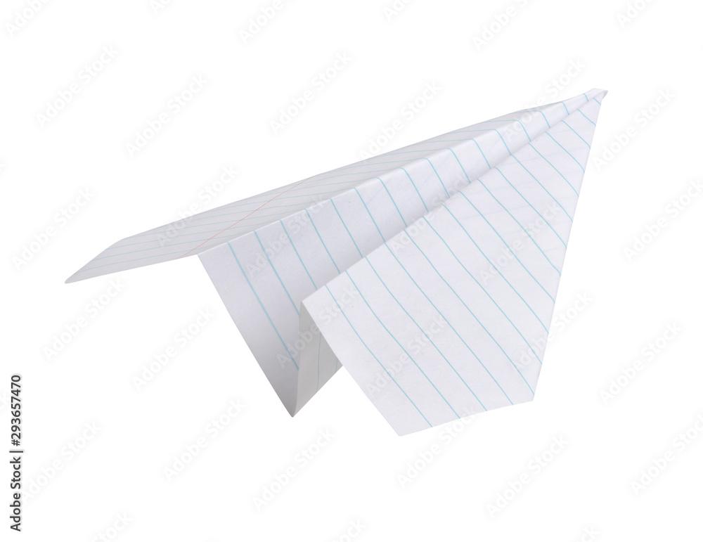 Fototapety, obrazy: Paper plane isolated on white background