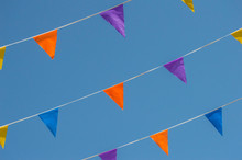 Colored Pennants Hanging With ...