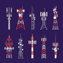 Radio Towers, Telecommunication Antenna Poles