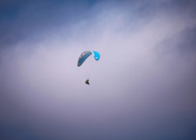 Para-glider Flying In Mid Air ...