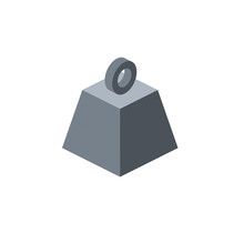 Kettlebell Cargo. Vector 3d Isometric, Color Web Icon, New Flat Style. Creative Illustration Design, Idea For Infographics.
